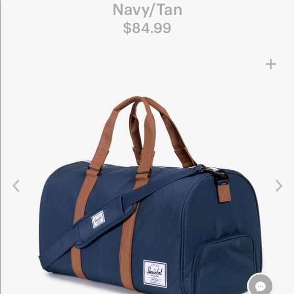 79d1ef1bc4 Herschel Supply Company Handbags - Herschel Novel Duffle Blue Tan
